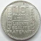 Photo numismatique  Monnaies Monnaies Françaises Troisième République 20 Francs 20 Francs Turin 1933 rameaux longs, G.852 TTB+/SUPERBE