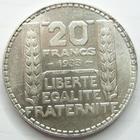 Photo numismatique  Monnaies Monnaies Françaises Troisième République 20 Francs 20 francs Turin 1933 rameaux longs, G.852 petites traces sinon SUPERBE