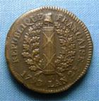 Photo numismatique  Monnaies Monnaies de sièges Convention 5 Sols CONVENTION, SIEGE DE MAYENCE, 5 Sols 1793, AN 2, Gadoury 67 TTB+