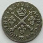 Photo numismatique  Monnaies Monnaies Royales Louis XIV Médaille 5 sols aux insignes LOUIS XIV, 5 sols aux insignes 1704 BB Strasbourg, 1.47 grammes, L4L.335 TTB