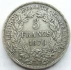 Photo numismatique  Monnaies Monnaies Françaises Troisième République 5 Francs 5 Francs Cérès 1870 A, G.742 TTB