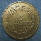 Photo numismatique  Monnaies Monnaies Françaises Troisième République 5 Francs 5 Francs type lavrillier, 1938, bronze-alu, Gadoury 761 TTB