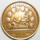 Photo numismatique  Monnaies Monnaies volées Médailles Louis XIV LOUIS XIV, 1680, médaille en bronze 40 mm, Alsatia in Provinciam Redacta, poinçon corne, Refrappe, SUPERBE+