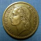 Photo numismatique  Monnaies Monnaies Françaises Troisième République 5 Francs 5 Francs type Lavrillier, 1940, bronze-alu, gadoury 761 TTB