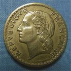 Photo numismatique  Monnaies Monnaies Françaises Gouvernement Provisoire 5 Francs 5 Francs type lavrillier, 1945 C, bronze-alu, Gadoury 761a, TTB