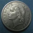 Photo numismatique  Monnaies Monnaies Françaises 4ème république 5 Francs 5 Francs type lavrillier, 1950 B, alu, gadoury 766a TTB+