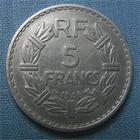 Photo numismatique  Monnaies Monnaies Françaises Gouvernement Provisoire 5 Francs 5 Francs type lavrillier, 1946 B, alu, gadoury 766 TTB