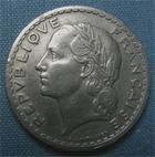 Photo numismatique  Monnaies Monnaies Françaises Gouvernement Provisoire 5 Francs 5 Francs type Lavrillier, 1946 C, aluminium, Gadoury 766 TTB