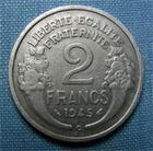 Photo numismatique  Monnaies Monnaies Françaises Gouvernement Provisoire 2 Francs 2 Francs type Morlon, 1945 C, aluminium, Gadoury 538a TTB