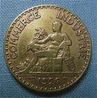 Photo numismatique  Monnaies Monnaies Françaises Troisième République 2 Francs 2 Francs type Domard, 1926, bronze-aluminium, Gadoury 53 TTB (néttoyé)