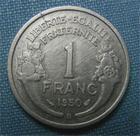 Photo numismatique  Monnaies Monnaies Françaises 4ème république 1 Franc 1 Franc type Morlon, 1950 B, aluminium, gadoury 473b TTB