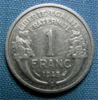 Photo numismatique  Monnaies Monnaies Françaises Gouvernement Provisoire 1 Franc 1 Franc type Morlon, 1945 C, aluminium, Gadoury 473a TTB