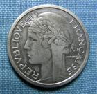 Photo numismatique  Monnaies Monnaies Françaises Gouvernement Provisoire 1 Franc 1 Franc type Morlon, 1945 B, aluminium, Gadoury 473a TTB