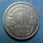Photo numismatique  Monnaies Monnaies Françaises 4ème république 1 Franc 1 Franc type Morlon, 1958 B, aluminium, gadoury 473b TTB