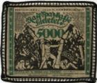 Photo numismatique  Billets Billets étrangers Allemagne, Deutschland, Bielefeld 5000 mark en tissus, Stoff BIELEFELD, 5000 mark en tissus (stoff), 15.2.1923, bordure noire, Grab.67c SUP