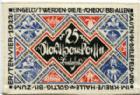 Photo numismatique  Billets Billets étrangers Allemagne, Deutschland, Bielefeld 25 mark en tissus, Stoff BIELEFELD, 25 mark en tissus (stoff), 1921, Grab.18c SUPERBE