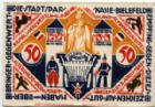 Photo numismatique  Billets Billets étrangers Allemagne, Deutschland, Bielefeld 50 mark en tissus, Stoff BIELEFELD, 50 mark en tissus (stoff), Mai-Oct. 1922, Grab.49c SUPERBE