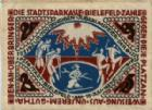 Photo numismatique  Billets Billets étrangers Allemagne, Deutschland, Bielefeld 25 mark en tissus, Stoff BIELEFELD, 25 mark en tissus (stoff), 15 Juillet 1921, Grab.25b SUP