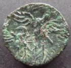 Photo numismatique  Monnaies Monnaies Gauloises Bituriges cubi, Bituriges cubes Bronze Caliagiid BITURIGES CUBES, bronze CALIAGIID, vers 60-50 avant Jc, 3,70 grms, DT.2588 TTB/TB+