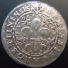 Photo numismatique  Monnaies Monnaies/medailles d'Alsace Strasbourg Semissis, halbgroschen Strasbourg, municipalité, 16/17 ème siècle, semissis type à l'Ecu au revers, 1,89 grms,  EL.374 variante, TTB