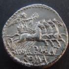 Photo numismatique  Monnaies R�publique Romaine Maenia 132 avant Jc Denier, denar, denario, denarius P.MAENIUS ANTIATICUS, denier 132 avant Jc, quadrige, 3,92 grms, RSC.Maenia SUPERBE