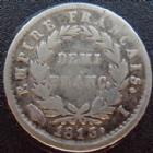 Photo numismatique  Monnaies Monnaies Fran�aises 1er Empire Demi franc NAPOLEON I er, Demi franc 1813 I Limoge, G.399 TB � TTB